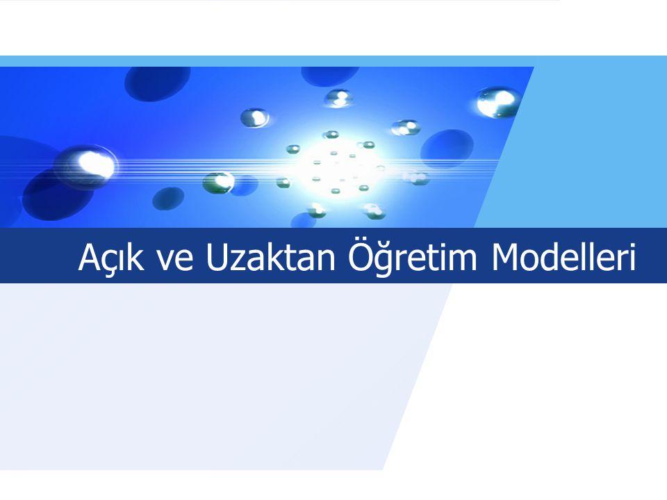 LOGO Sunum Açık ve Uzaktan Öğretim İhtiyacı 1 Model Seçmede Etkili Olan Faktörler 2 Temel Açık ve Uzaktan Öğretim Modelleri 3 Sonuç 4