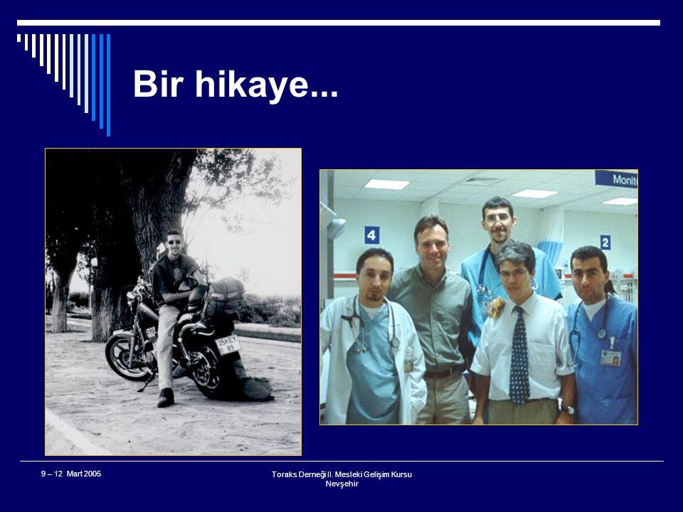 Toraks Derneği II.Mesleki Gelişim Kursu Nevşehir 9 – 12 Mart 2005 Uygulamadan kalkan...