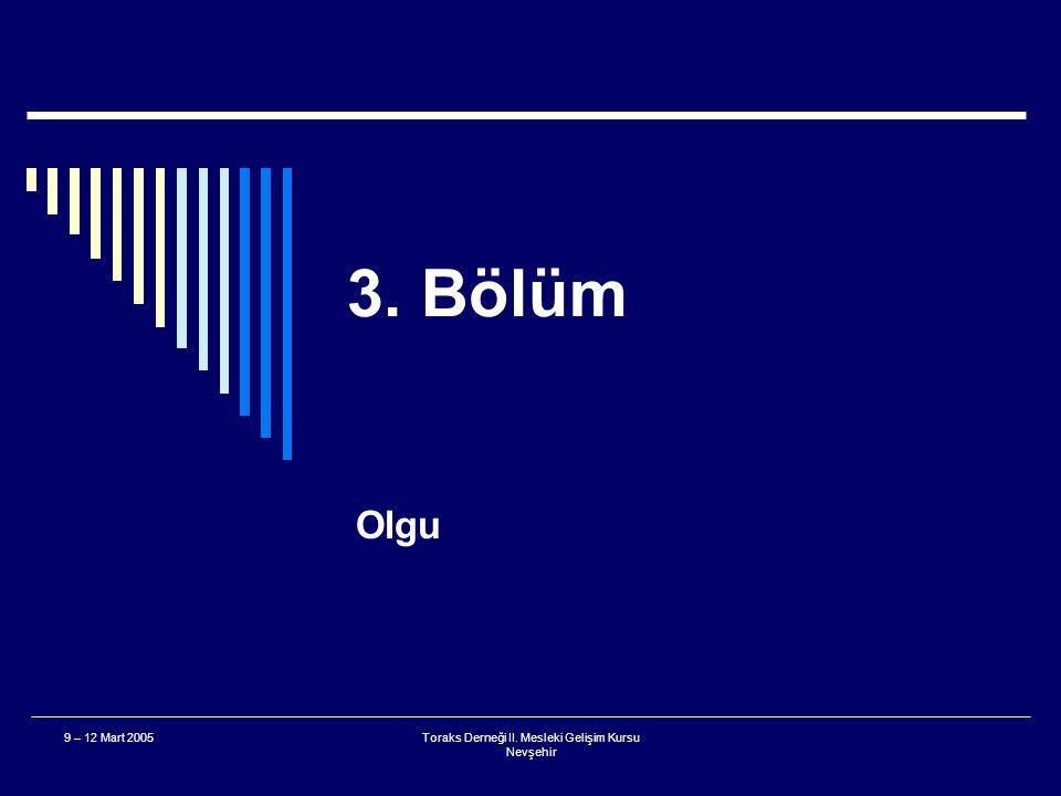 Toraks Derneği II. Mesleki Gelişim Kursu Nevşehir 9 – 12 Mart 2005 Solunum Sıkıntısı  Hangi periferik oksijen saturasyonu değeri hipoksemi için sınır
