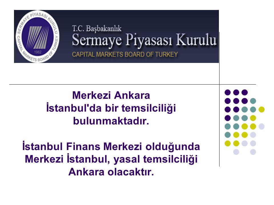 Merkezi Ankara İstanbul'da bir temsilciliği bulunmaktadır. İstanbul Finans Merkezi olduğunda Merkezi İstanbul, yasal temsilciliği Ankara olacaktır.