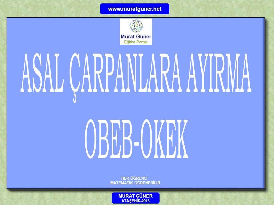 HER ÖĞRENCİ MATEMATİK ÖĞRENEBİLİR MURAT GÜNER ATAŞEHİR-2013 www.muratguner.net