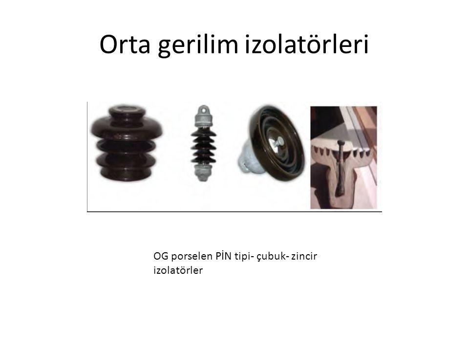Orta gerilim izolatörleri OG porselen PİN tipi- çubuk- zincir izolatörler