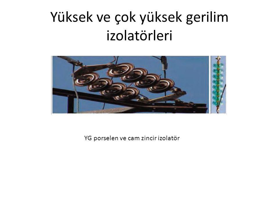 Yüksek ve çok yüksek gerilim izolatörleri YG porselen ve cam zincir izolatör