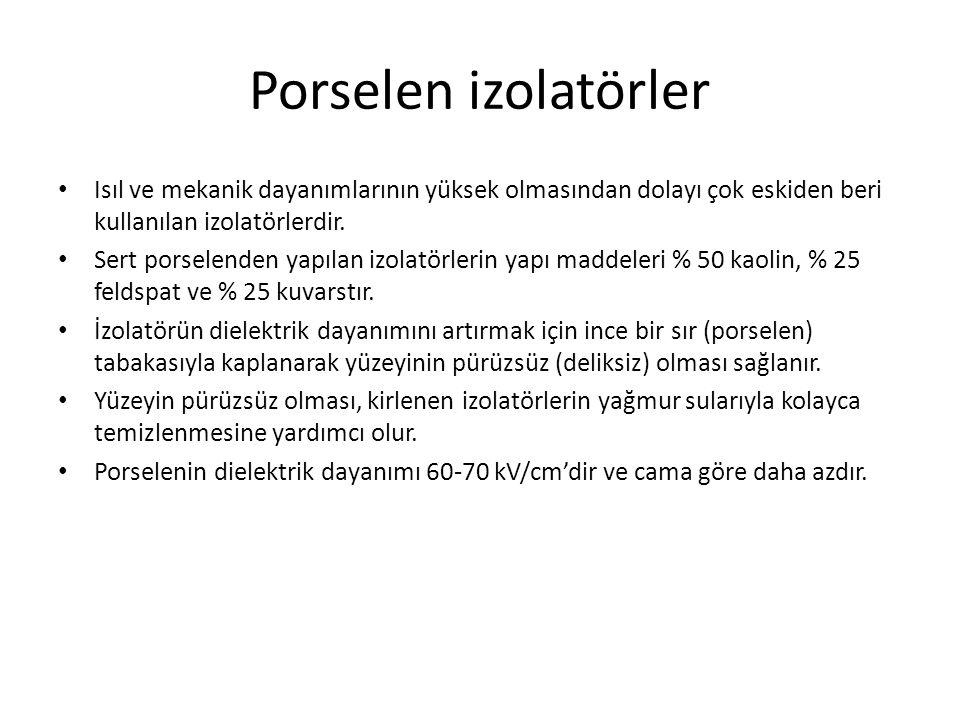 Porselen izolatörler Isıl ve mekanik dayanımlarının yüksek olmasından dolayı çok eskiden beri kullanılan izolatörlerdir.