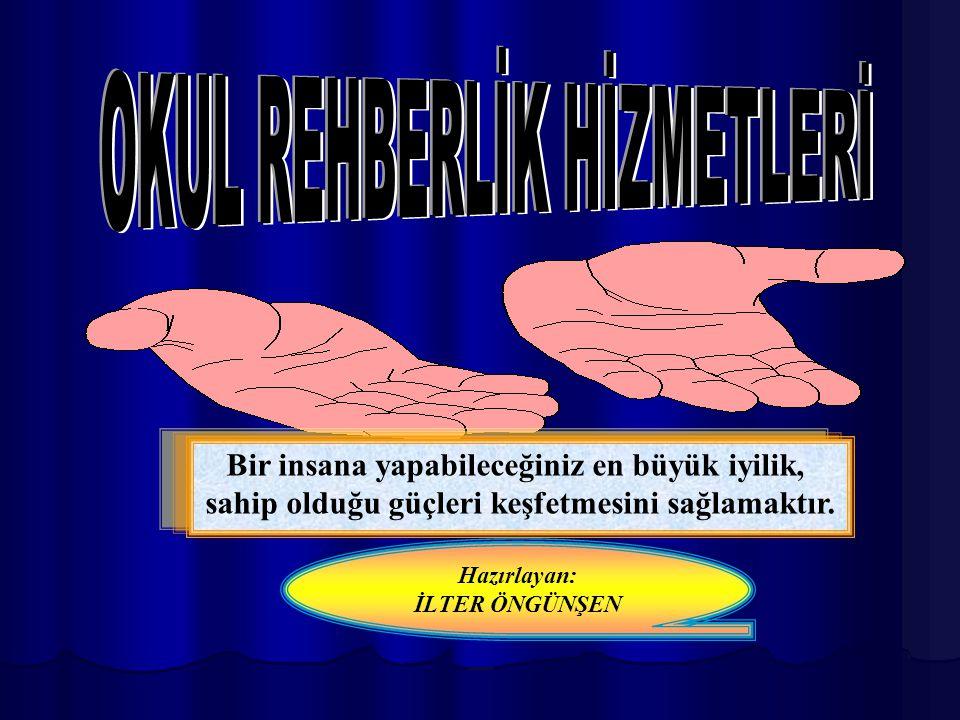 REHBERLİK VE PSİKOLOJİK DANIŞMA HİZMETLERİNİN SINIRLILIKLARI VE ALANA İLİŞKİN YANLIŞ ANLAYIŞLAR REHBERLİK VE PSİKOLOJİK DANIŞMA HİZMETLERİNİN SINIRLILIKLARI VE ALANA İLİŞKİN YANLIŞ ANLAYIŞLAR 3)Rehberlik ve psikolojik danışma hizmetleri bireylerin sadece duygusal yönü ile ilgilenmez.