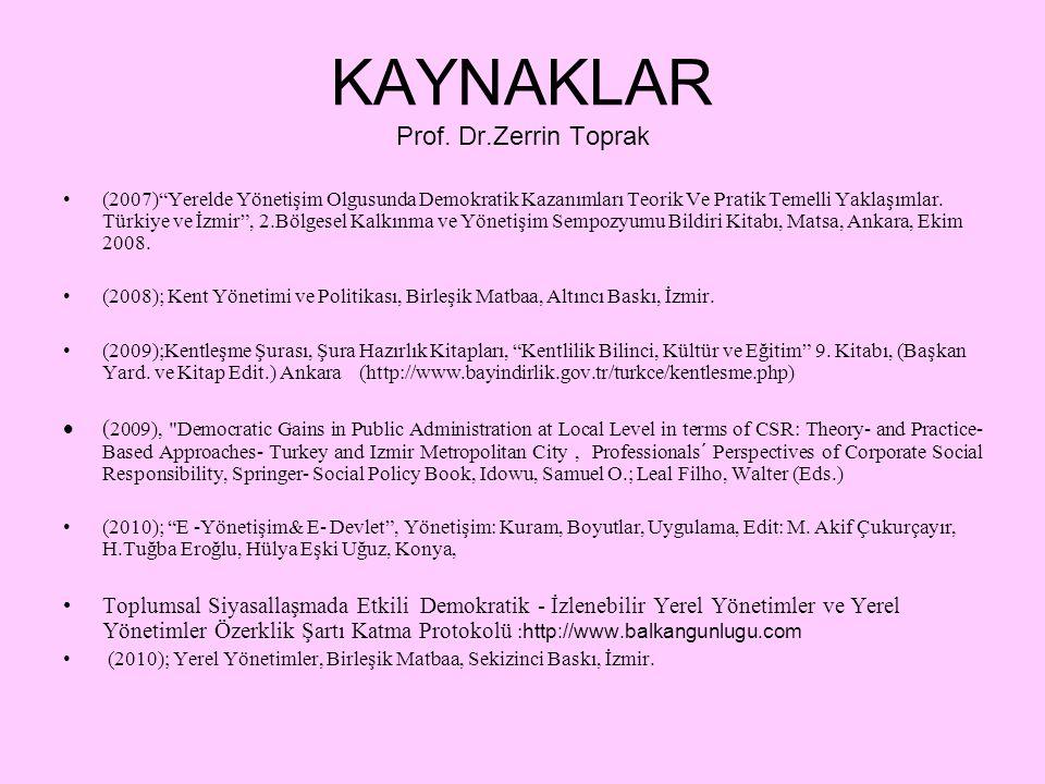 KAYNAKLAR Prof.