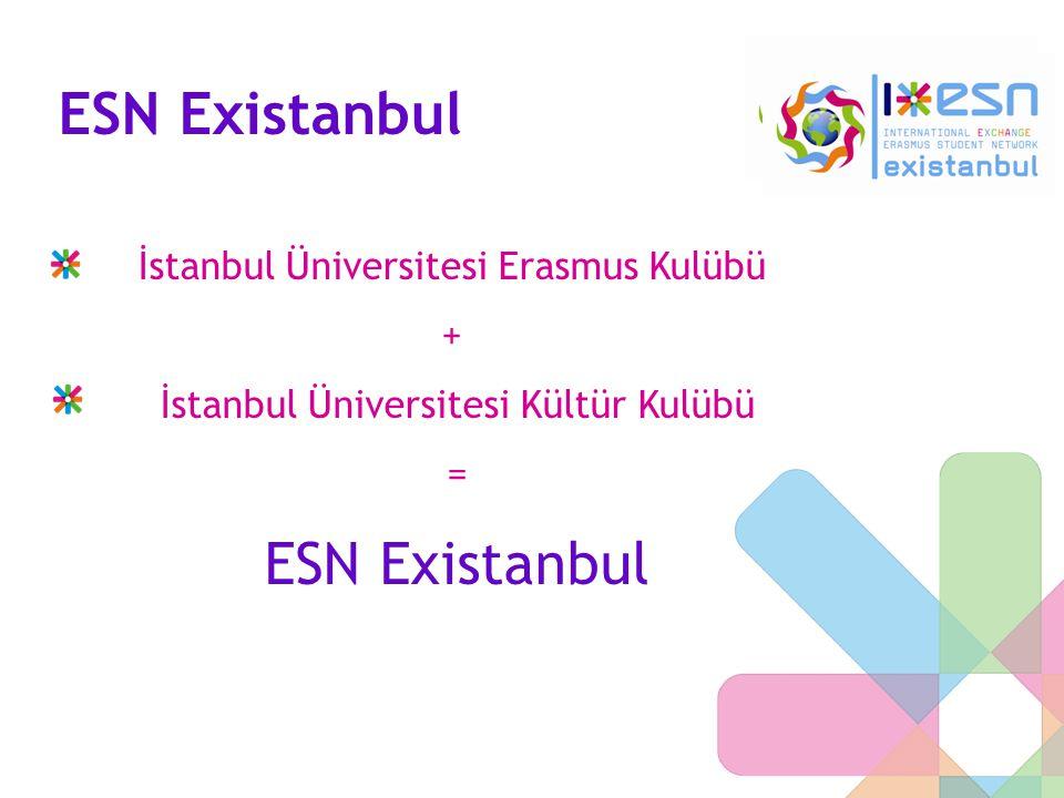 ESN Existanbul İstanbul Üniversitesi Erasmus Kulübü + İstanbul Üniversitesi Kültür Kulübü = ESN Existanbul