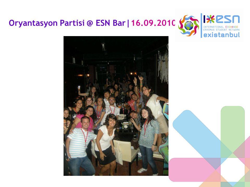 Oryantasyon Partisi @ ESN Bar|16.09.2010