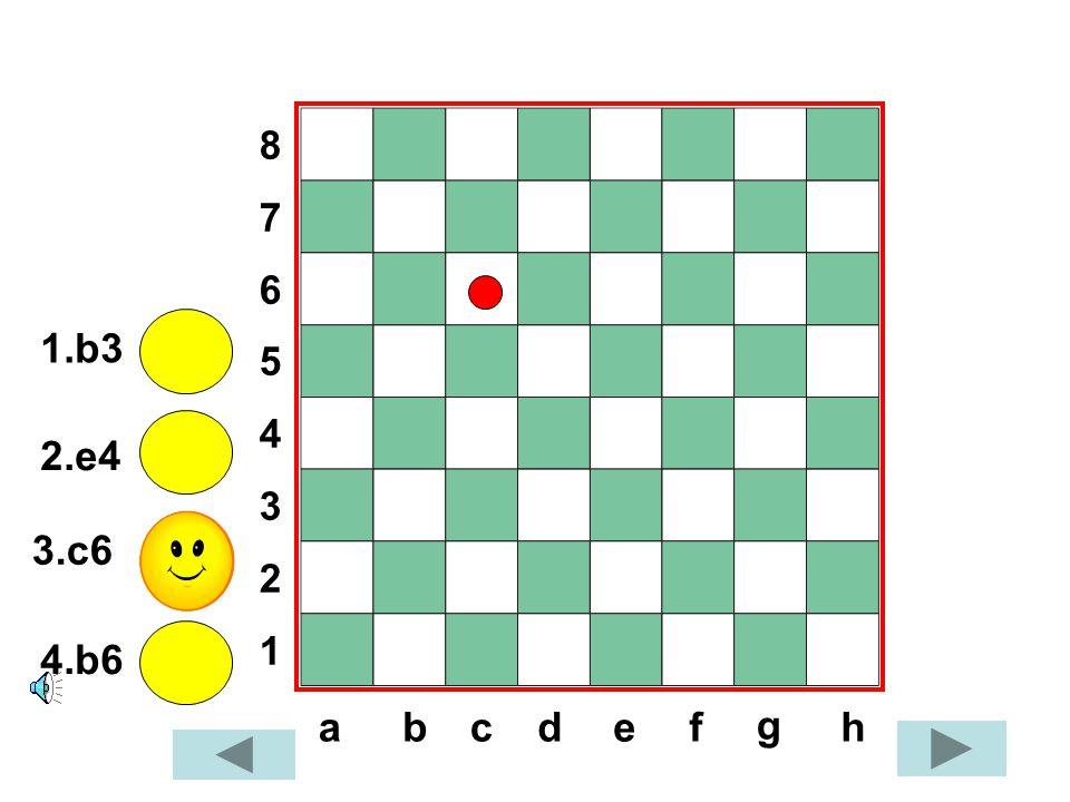 8765432187654321 dabcef g h 1.b3 2.e4 3.c6 4.b6
