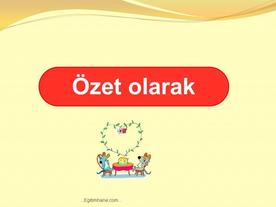 Aşağıdaki cümlelerdeki boşluklara SONUNDA, KISACASI, BÖYLECE, ÖZETLE, ÖZET OLARAK kelimelerinden uygun olanları yazınız....Egitimhane.com...