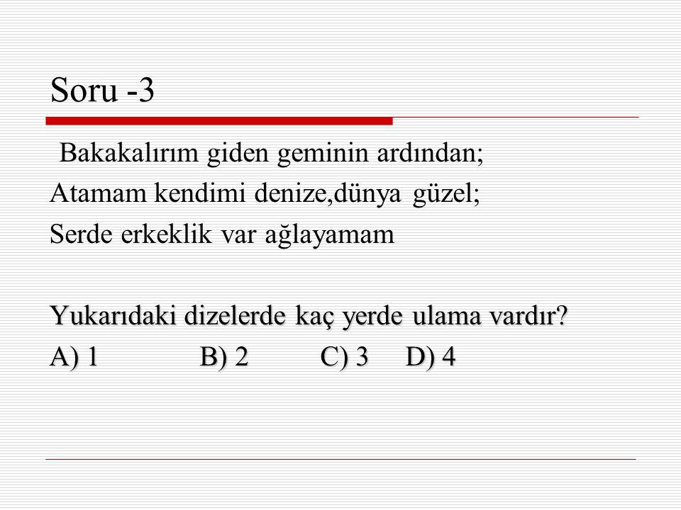  Cevap (B)