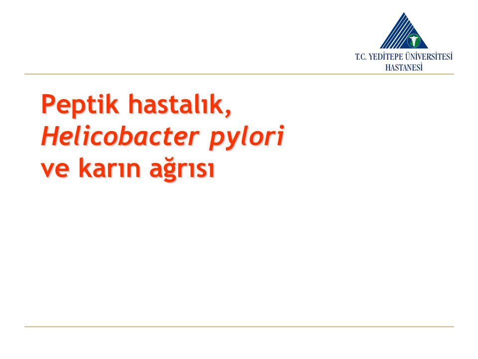 peptik ülser gelişiminde önemli faktörler  Flagella  Katalaz  Müsinaz, lipaz, fosfolipaz  Bakteriyel adezin ve epitel hücre reseptörleri  Sitotoksinler  Hemolizin HELICOBACTER PYLORI VİRULANS FAKTÖRLERİ