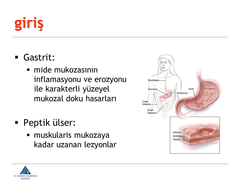  Karın ağrısı olan bir çocukta mide- duodenumu incelemek için seçilecek yöntem, eşlik eden diğer bulgular ve ön tanılara göre seçilmelidir.