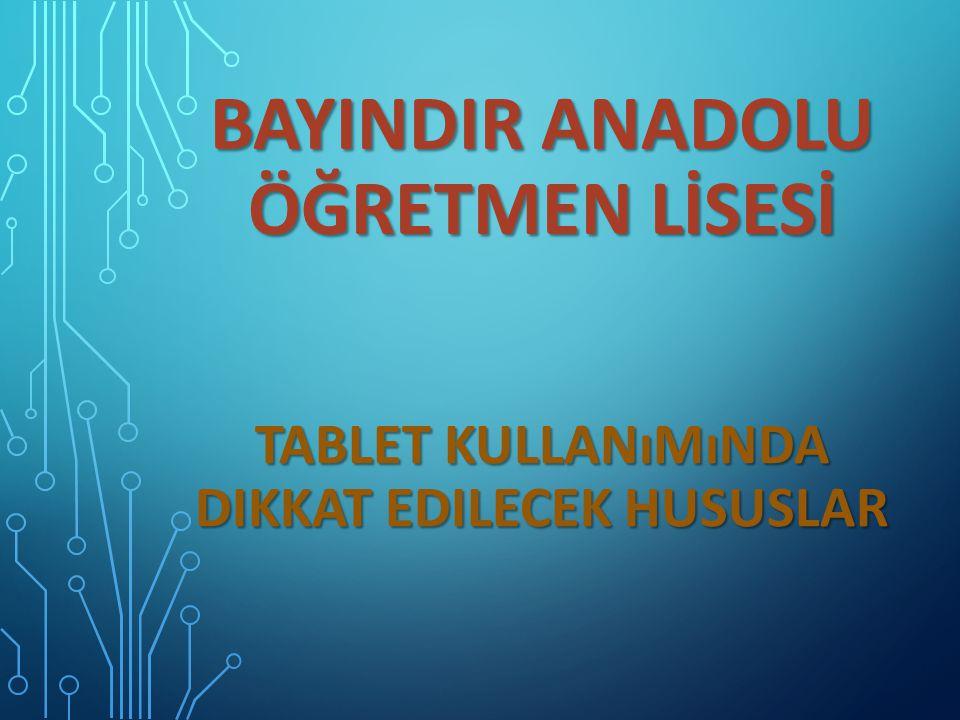 Bu tablet sizin adınıza sisteme kayıtlıdır ve merkezi olarak takip altındadır.