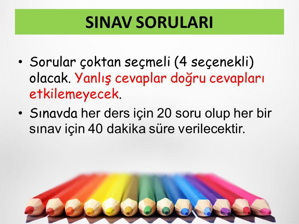 Yabancı dil oturumunda, ilköğretim okullarında zorunlu yabancı dil olarak okutulan İngilizce, Almanca ve Fransızca derslerinden soru sorulacaktır.