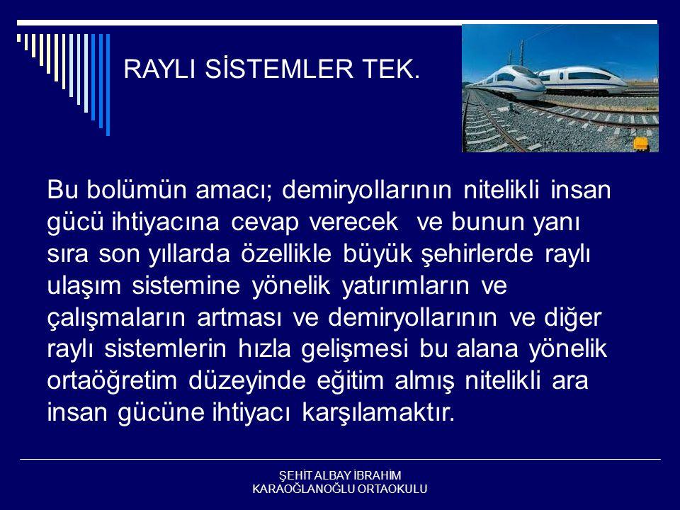RAYLI SİSTEMLER TEK.