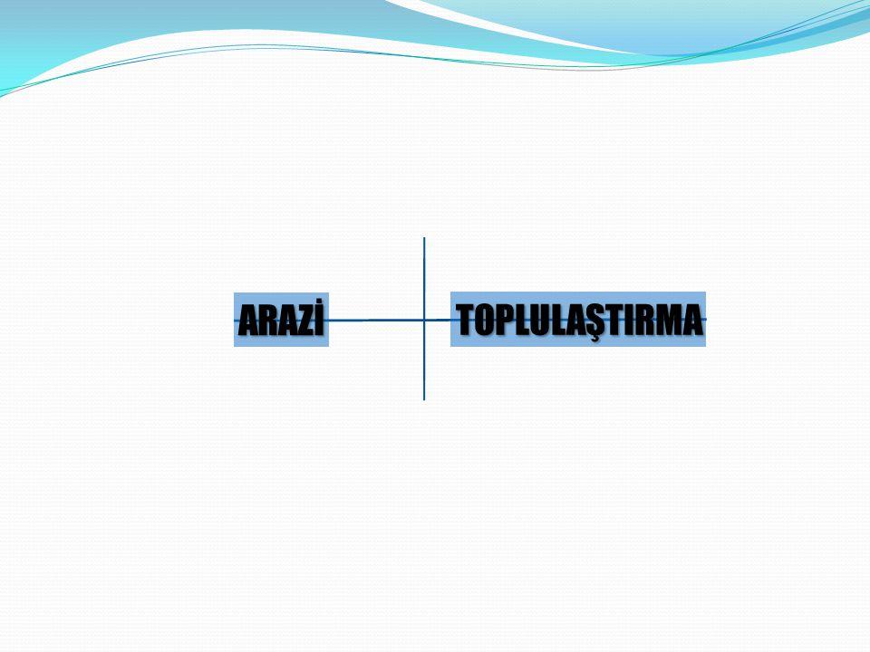 TOPLULAŞTIRMA ARAZİ