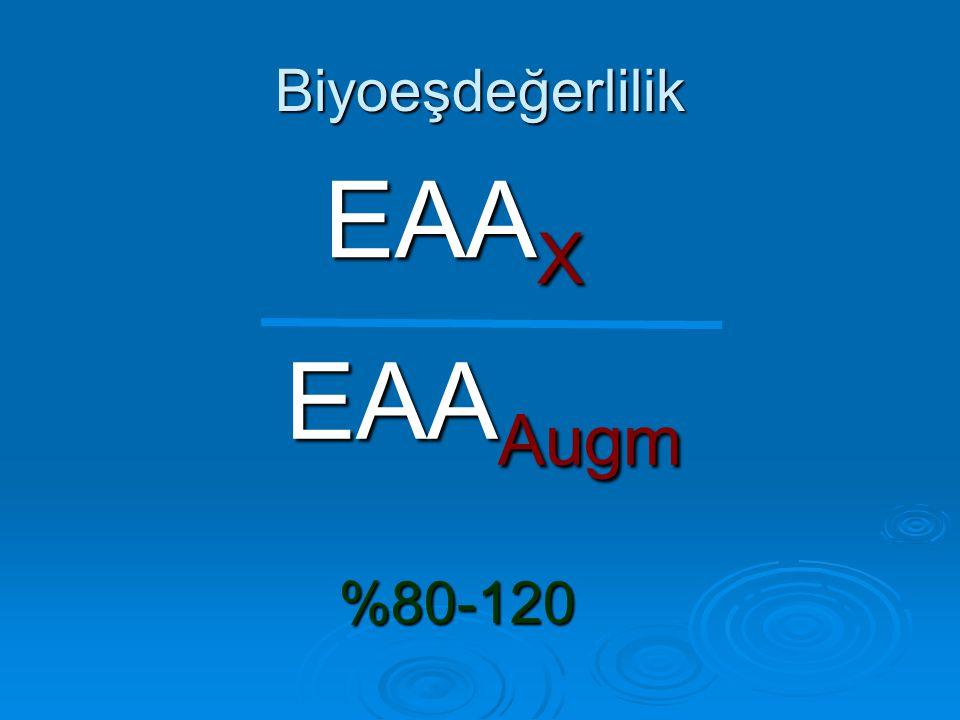 Biyoeşdeğerlilik EAA X EAA Augm %80-120