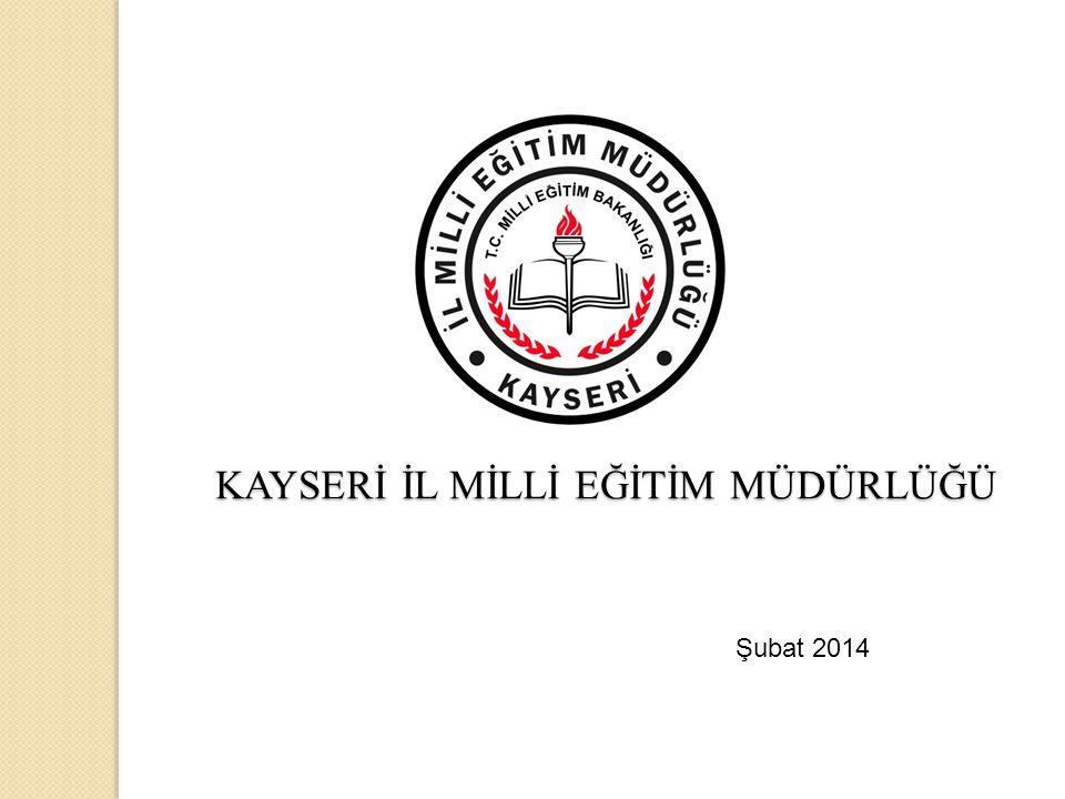 KAYSERİ İL MİLLİ EĞİTİM MÜDÜRLÜĞÜ KAYSERİ İL MİLLİ EĞİTİM MÜDÜRLÜĞÜ Şubat 2014