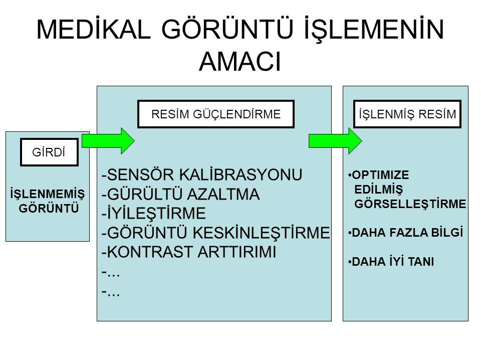 MEDİKAL GÖRÜNTÜLEMEDEKİ PROBLEMLER SEGMENTASYON REGISTRATION VISUALIZATION SIMULATION