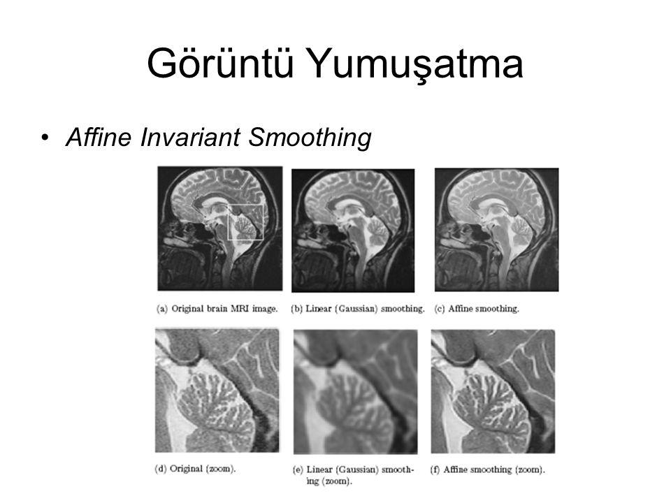 Görüntü Yumuşatma Affine Invariant Smoothing