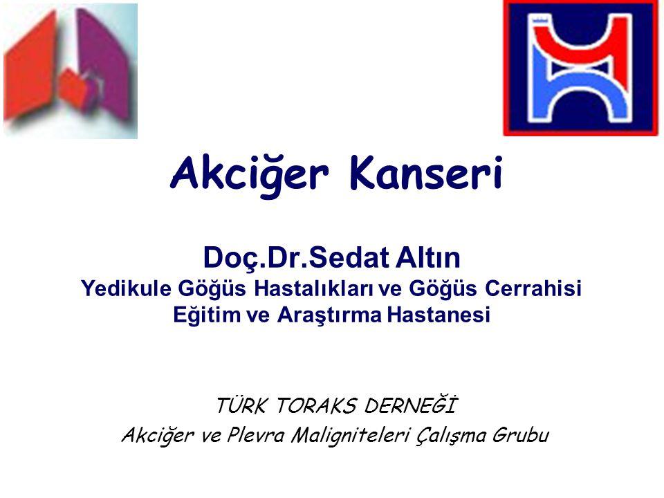 Akciğer Kanseri Doç.Dr.Sedat Altın Yedikule Göğüs Hastalıkları ve Göğüs Cerrahisi Eğitim ve Araştırma Hastanesi TÜRK TORAKS DERNEĞİ Akciğer ve Plevra