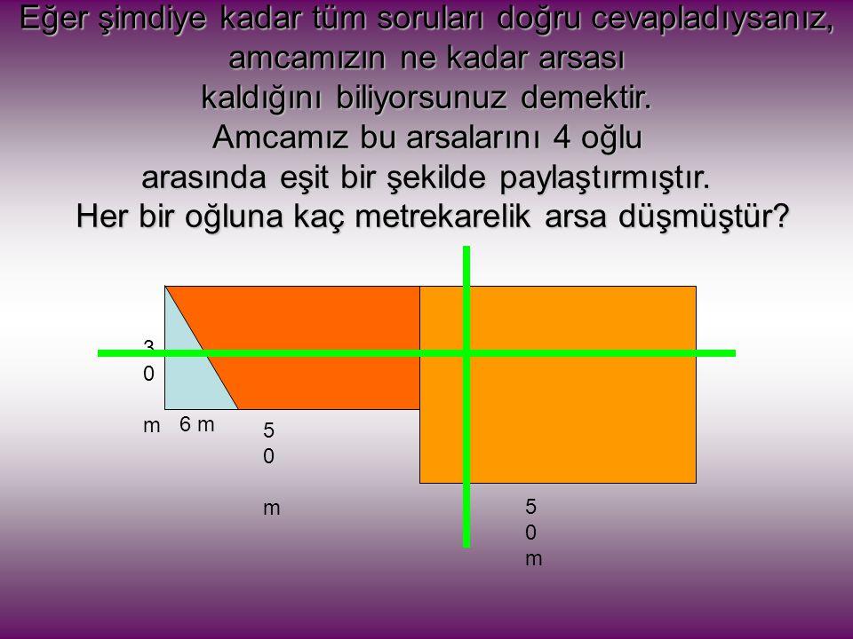 6.Alttaki şeklin yüksekliği 5cm, ve yüksekliğe ait kenarda 9 cm dir.