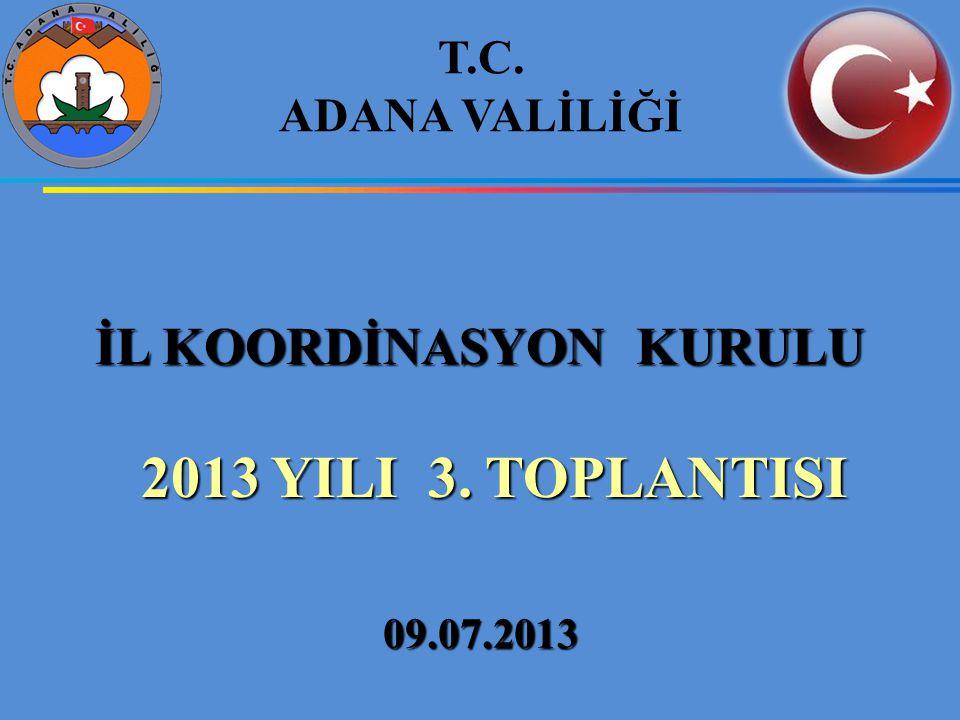 İL KOORDİNASYON KURULU 2013 YILI 3. TOPLANTISI 2013 YILI 3.