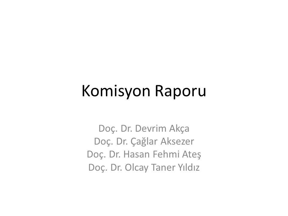 Komisyon Raporu Doç. Dr. Devrim Akça Doç. Dr. Çağlar Aksezer Doç. Dr. Hasan Fehmi Ateş Doç. Dr. Olcay Taner Yıldız