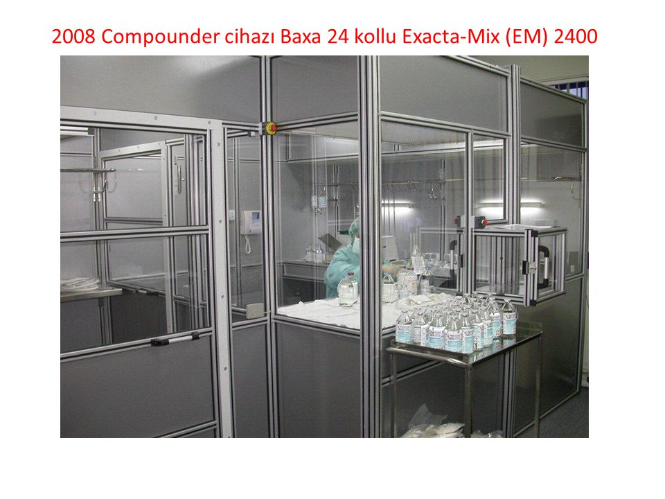 2008 Compounder cihazı Baxa 24 kollu Exacta-Mix (EM) 2400