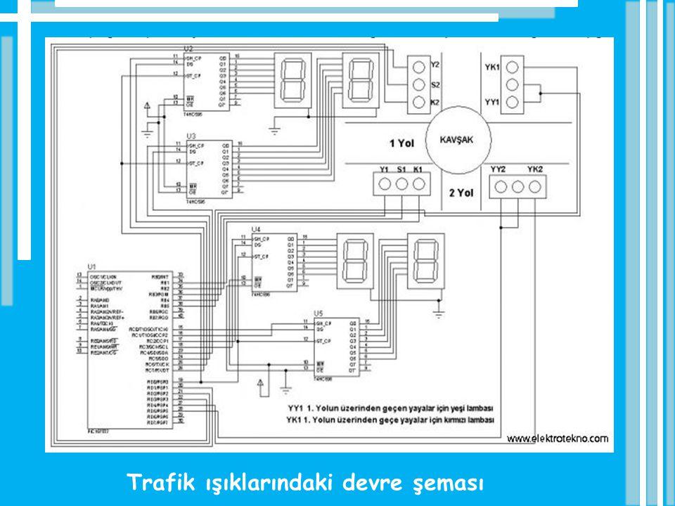 Trafik ışıklarındaki devre şeması