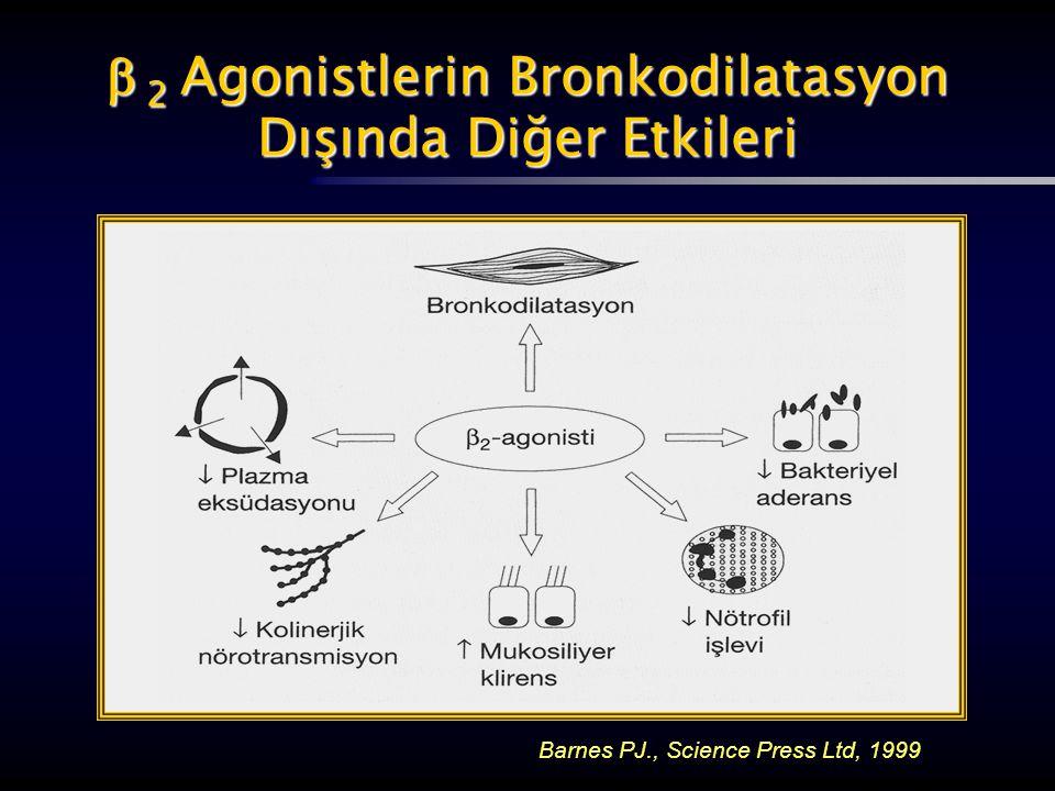  2 Agonistlerin Bronkodilatasyon Dışında Diğer Etkileri Barnes PJ., Science Press Ltd, 1999