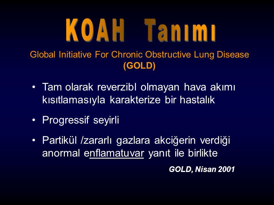 Global Initiative For Chronic Obstructive Lung Disease (GOLD) Tam olarak reverzibl olmayan hava akımı kısıtlamasıyla karakterize bir hastalık Progress