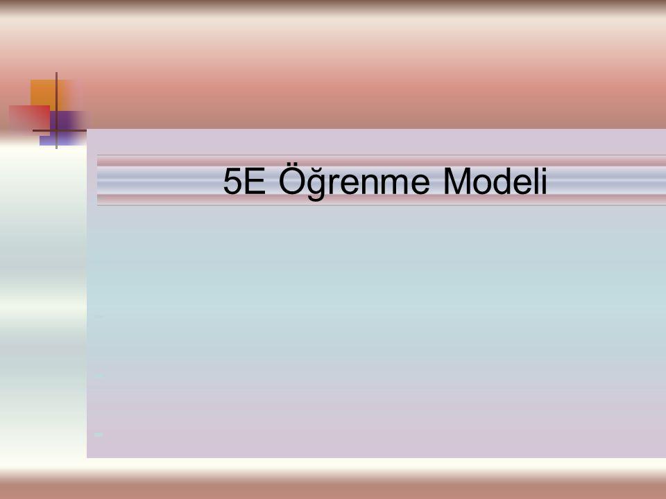 ---------- 5E Öğrenme Modeli