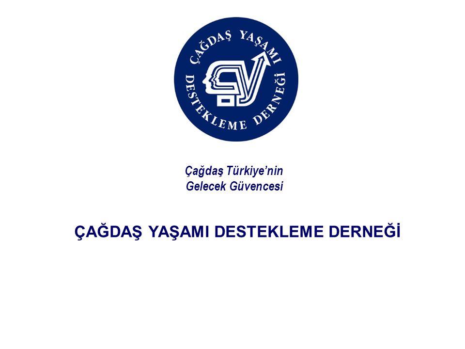 ÇAĞDAŞ YAŞAMI DESTEKLEME DERNEĞİ Çağdaş Türkiye'nin Gelecek Güvencesi