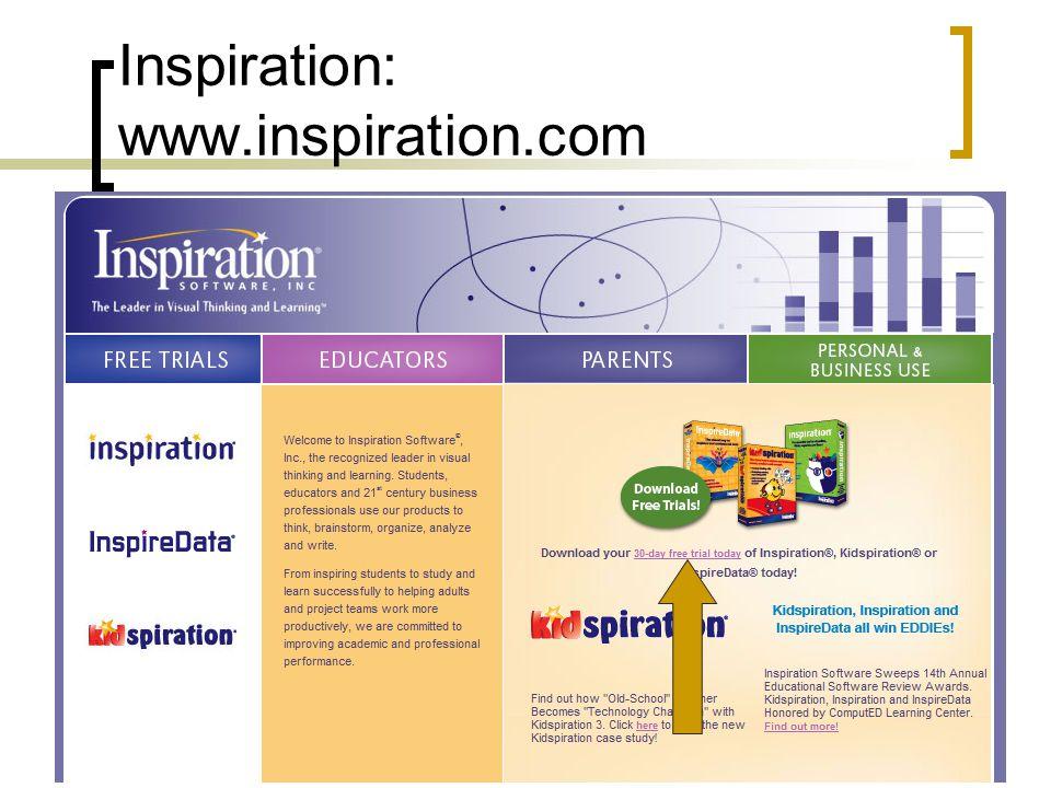 Inspiration: www.inspiration.com