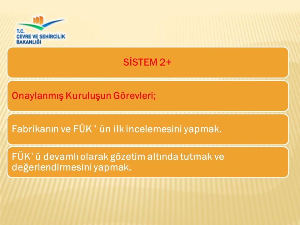 SİSTEM 2+Onaylanmış Kuruluşun Görevleri;Fabrikanın ve FÜK ' ün ilk incelemesini yapmak.