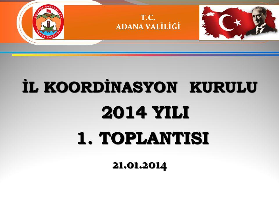 İL KOORDİNASYON KURULU 2014 YILI 2014 YILI 1. TOPLANTISI 1.