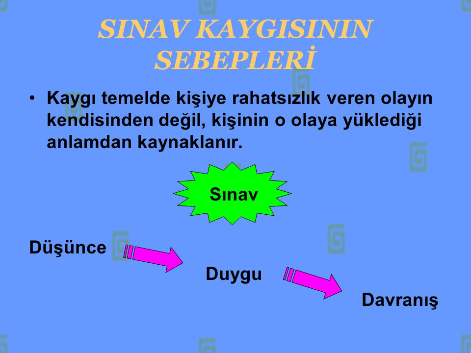SINAV SÜRESİNCE 1.