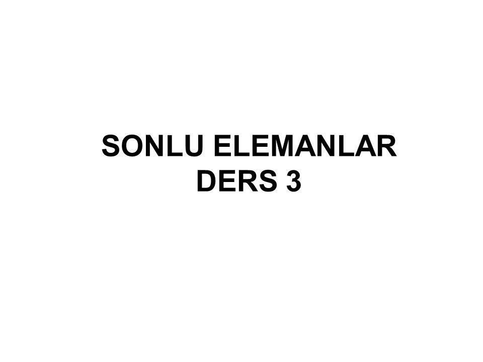 SONLU ELEMANLAR DERS 3