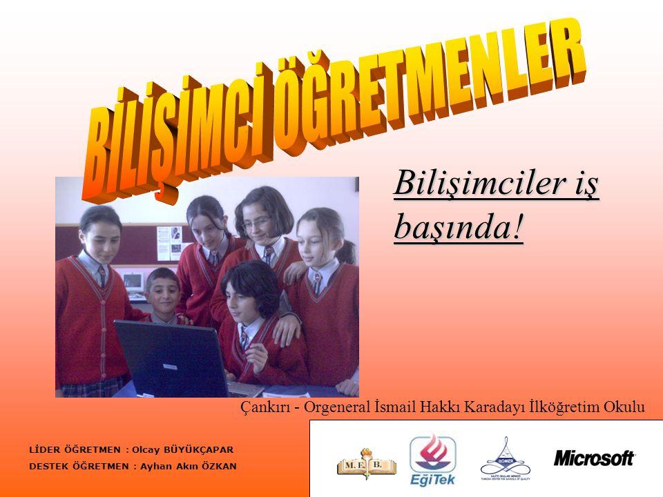 21.03.2007 - çarşamba Bilişimci Öğretmenler olarak afiş hazırladık ve kurs hazırlıklarına başladık.
