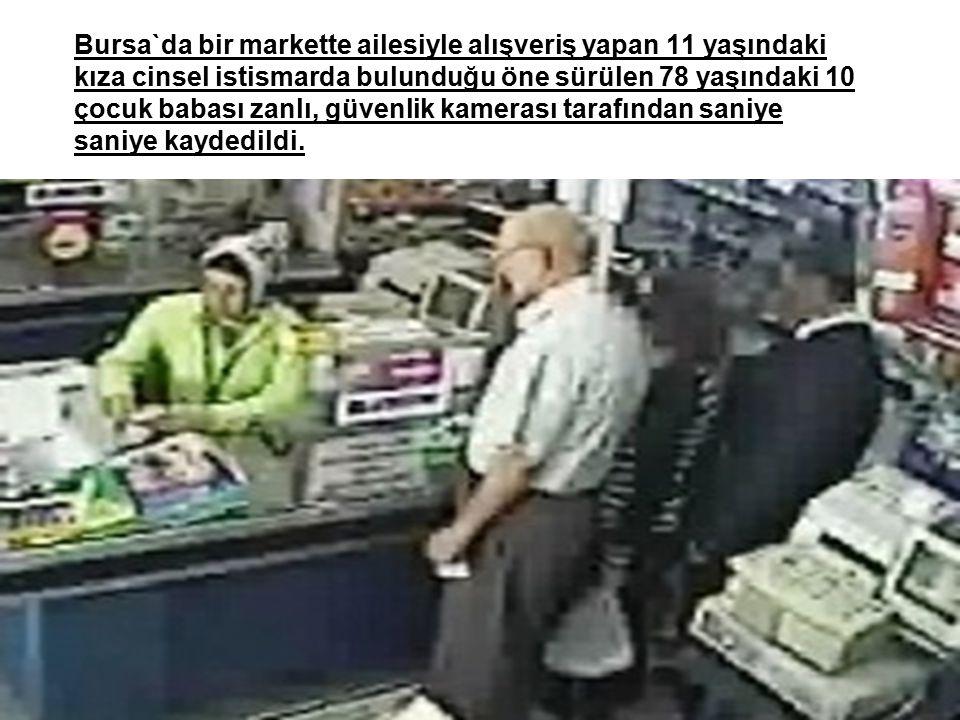 38 Bursa`da bir markette ailesiyle alışveriş yapan 11 yaşındaki kıza cinsel istismarda bulunduğu öne sürülen 78 yaşındaki 10 çocuk babası zanlı, güven