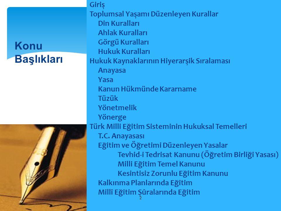 Türk Milli Eğitiminin Temel İlkeleri III – Yöneltme:  Fertler, eğitimleri süresince, ilgi, istidat ve kabiliyetleri ölçüsünde ve doğrultusunda çeşitli programlara veya okullara yöneltilerek yetiştirilirler.