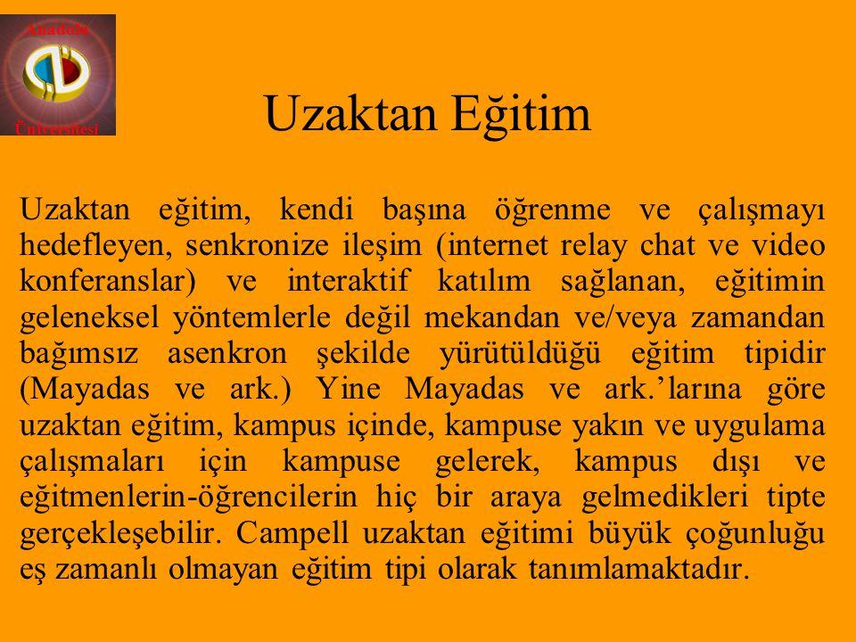 Anadolu Üniversitesi Öğrencilerin hangi sıklıkla ve hangi amaçla eğitim birimine (Enstitüye) gelmesi gerektiği belirtilmeli.