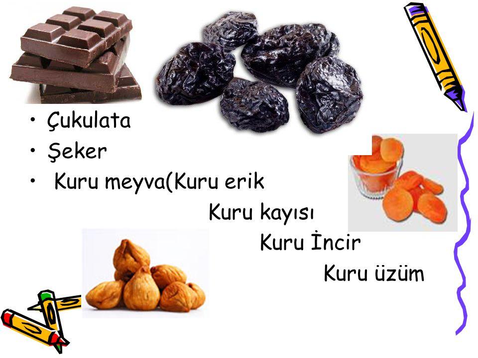 Çukulata Şeker Kuru meyva(Kuru erik Kuru kayısı Kuru İncir Kuru üzüm