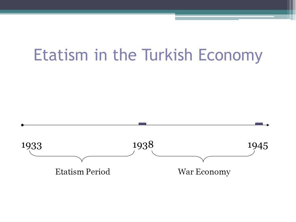 Etatism in the Turkish Economy 1933 1938 1945 Etatism Period War Economy
