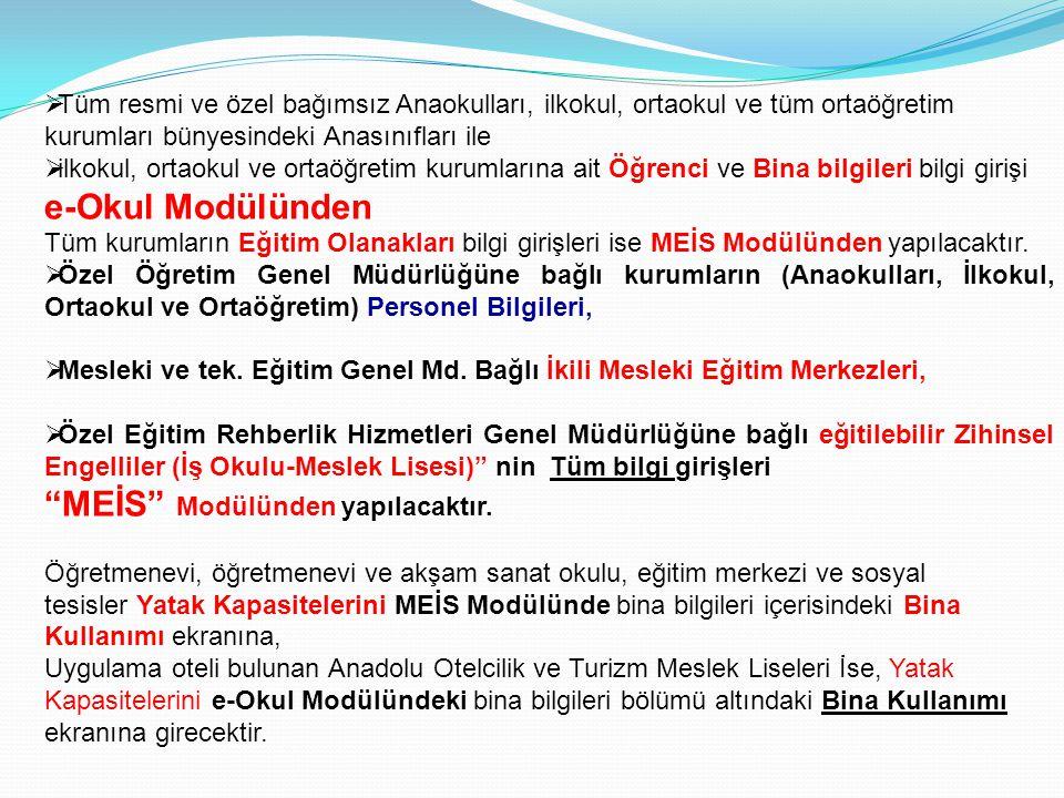Bizim veri girişi yapmamız gereken tarih 04 Ekim 2012 bu tarih Meis Modülü veri girişine açıldığında en alt bölümde 04.10.2012 (15.