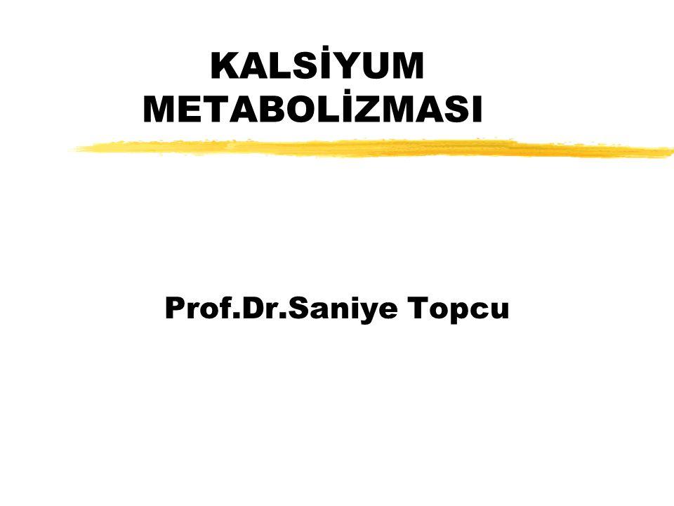 Kalsiyum zECF ve İCF'nin bir katyonudur zTotal Ca 1-1.5kg dır.
