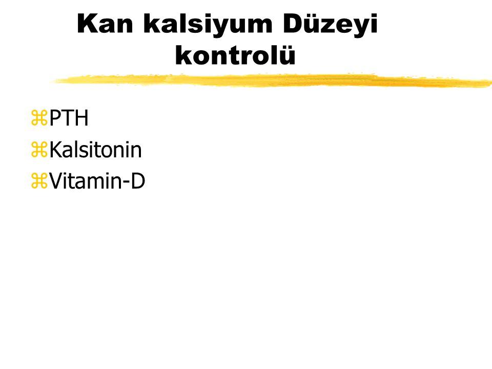 Kan kalsiyum Düzeyi kontrolü zPTH zKalsitonin zVitamin-D