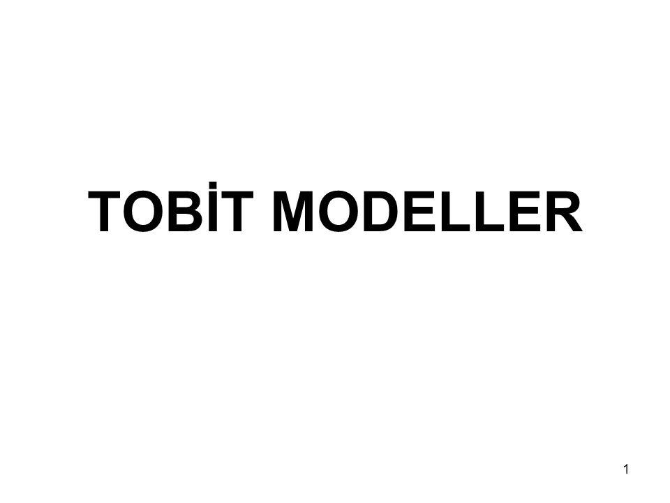 1 TOBİT MODELLER